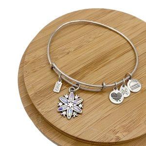 Alex and Ani 2017 Crystal Snowflake Charm Bracelet